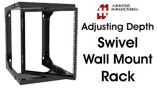 Heavy Duty Adjustable Depth Swivel Wall Mount Rack