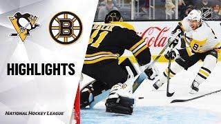 NHL Highlights | Penguins @ Bruins 11/04/19
