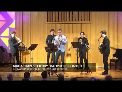 Nikita Zimin & Cherry Saxophone Quartet - D. Cimarosa: Oboe Concerto - IV. Allegro giusto