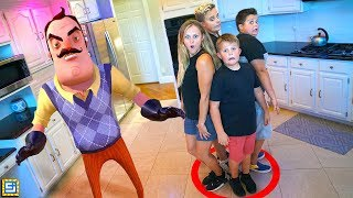 How to Play Last to Leave Hello Neighbor Hide and Seek In Real Life Party Games DIY