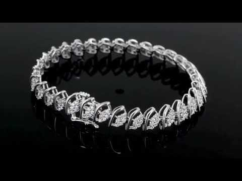 Browns Family Jewellers White Gold And Diamond Fancy Bracelet