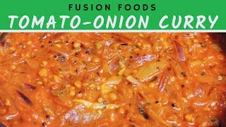Tomato-Onion curry | 20 mins Tomato Curry | Onion-Tomato Gravy| Takkali Tokku|வெங்காய தக்காளி குருமா