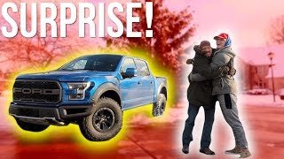 I BOUGHT MY DAD HIS DREAM TRUCK FOR CHRISTMAS! **emotional**