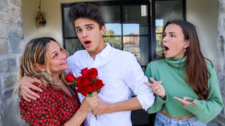 FLIRTING WITH HER MOM TO SEE HOW CRUSH REACTS.. (awkward)