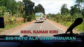 Aksi Bis Tayo Ziyan Trans Goyang di Jalanan Sumatera saat Jambore Nasional BMC ke 9