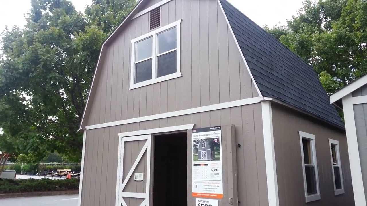 Home Depot Outdoor Storage Barn Summer Wind 16' X 16' SKU
