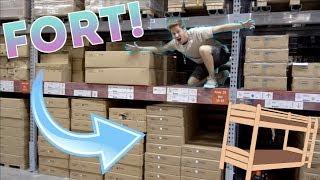 HUGE IKEA RAFTERS FORT!