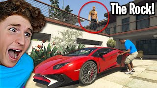 I Stole Dwayne The Rock's SUPERCAR In GTA 5.. (Mods)