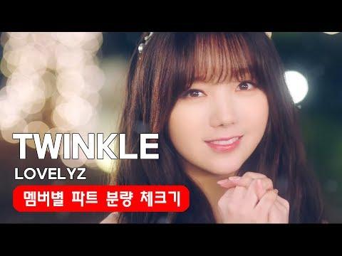 종소리 Twinkle 러블리즈 Lovelyz 멤버별 파트 분량