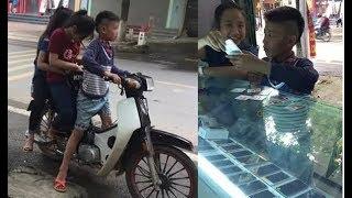 """Phú Thọ:""""Soái ca"""" 13t cưỡi Dream chở 2 hot girl đi sắm Iphone"""