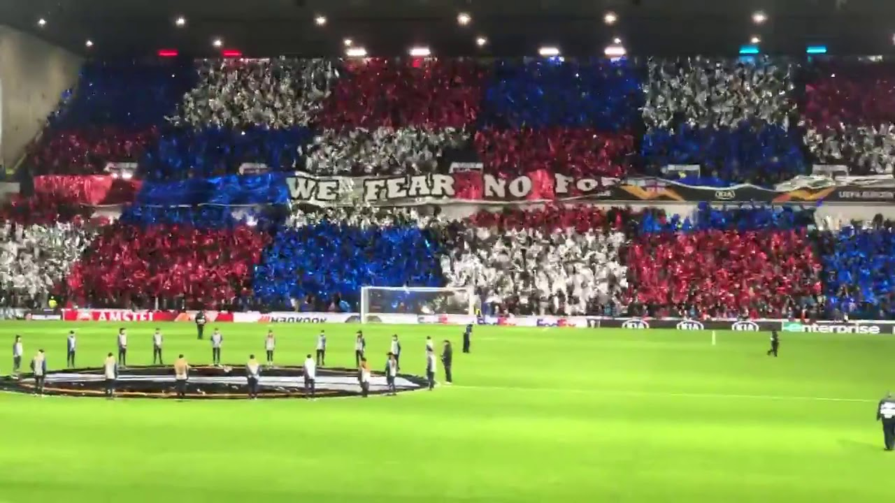 """What a game, what an atmosphere """"We Fear No Foe"""" Rangers - Porto 2-0"""
