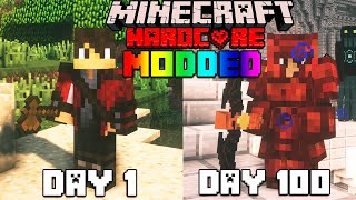 I Survived 100 Days In Minecraft Modded Hardcore FT. TITANS
