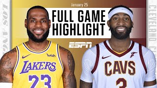 Los Angeles Lakers vs. Cleveland Cavaliers [FULL GAME HIGHLIGHTS] | NBA on ESPN