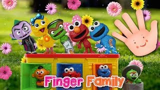 Sesame Street Pop Up Pals FINGER FAMILY SONG ♥Toy Nursery Rhyme♥ Lyrics and MORE Kids Songs