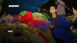 ب 60 ثانية - باكستان: السلحفاة جولي التي تزن ١٥٠ تحتفل بعيد ...