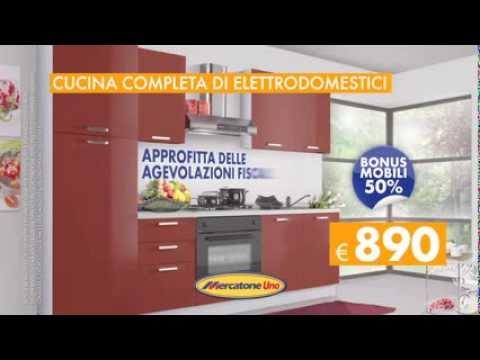 Cucina completa di elettrodomestici youtube for Mercatone uno lampade da esterno