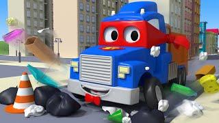 мусоровоз - Трансформер Карл в Автомобильный Город 🚚 ⍟ детский мультфильм