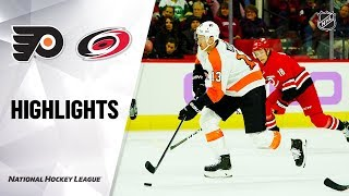 NHL Highlights | Flyers @ Hurricanes 11/21/19
