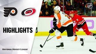 NHL Highlights | Flyers @ Hurricanes 11/21/19