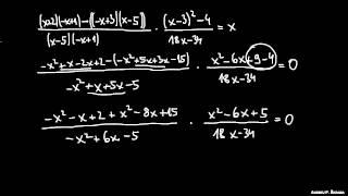 Racionalna enačba 5