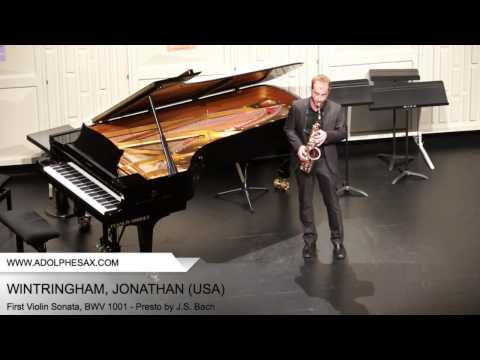 Dinant 2014 - WINTRINGHAM Jonathan (First Violin Sonata, BWV 1001 - Presto by J.S. Bach)