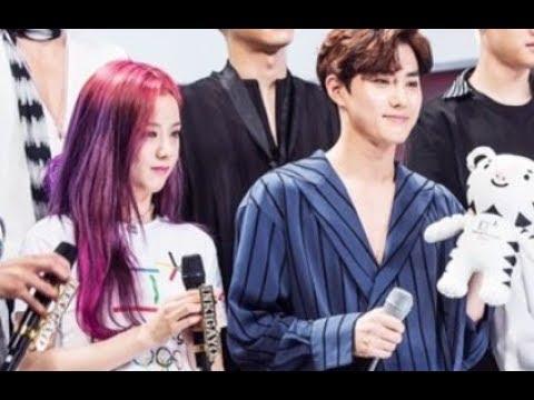 Suho & Jisoo (JiHo) moments