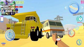 Dude Theft Wars: Open World Sandbox - Belaz Truck On Military Base | Android Gameplay HD