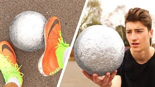 Playing FOOTBALL with a MIRROR-POLISHED FOIL BALL!!