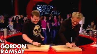 James Corden Tells Gordon Jamie Oliver Taught Him To Cook - Gordon Ramsay