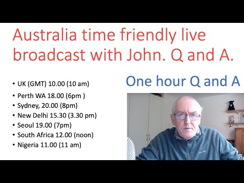 Live chat with John Sunday 1 March