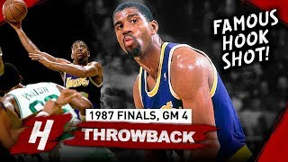 Magic Johnson EPIC Game 4 Comeback Highlights vs Celtics 1987 NBA Finals - 29 Pts, FAMOUS HOOK SHOT
