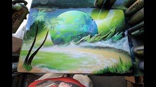 Green Shore SPRAY PAINT ART by Skech