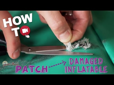 Patch a Damaged Inflatable using a Vinyl Cement Repair Kit: HOW TO | Magic Jump, Inc.