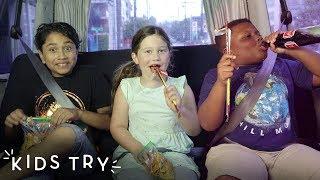 Kids Try Road Trip Snacks on the Road | Kids Try | HiHo Kids