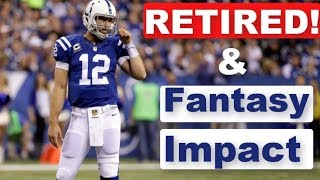 Andrew Luck RETIRED!?! Fantasy Football Impact