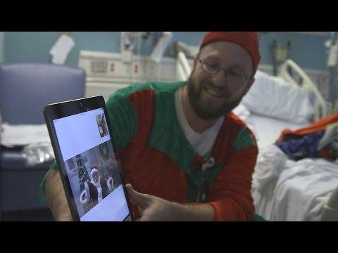 Santa Claus makes a cyber stop at Cincinnati Children's