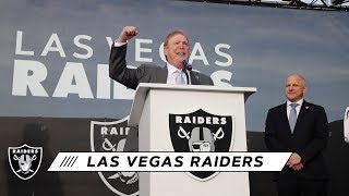 Las Vegas Raiders Announcement from Allegiant Stadium