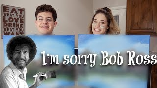 Following a Bob Ross Tutorial with my Twin Brother! (Drew Phillips)