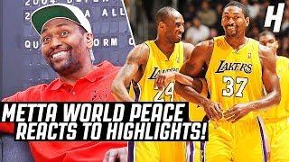 Metta World Peace Reacts To Metta World Peace Highlights