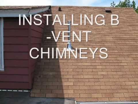 Installing B Vent Chimneys Youtube