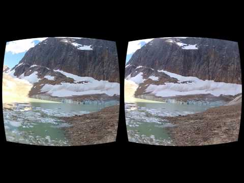 Oculus Rift 3D GoPro movie - Canada 06 Edith Cavell Glacier