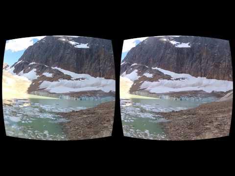 Oculus Rift 3D GoPro movie - Canada 06 Edith Cavell Glacier