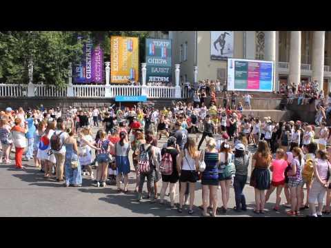 K-Pop World Festival Flashmob Moscow 2013