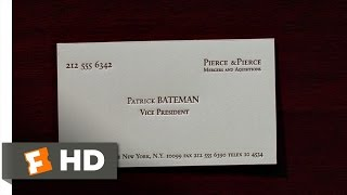 American Psycho (2/12) Movie CLIP - Business Cards (2000) HD