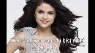 Who Says - Selena Gomez (Deutsche Übersetzung) Live