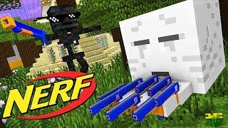 Monster School : NERF WAR CHALLENGE - Minecraft Animation