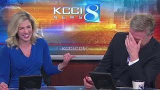 Anchors Can't Stop Laughing At Honking Dog