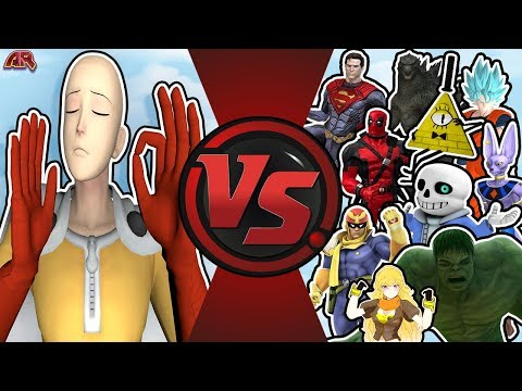Punch Man VS The World Saitama Vs Goku Beerus Superman Hulk Bill Cipher Sans OPM Animation A