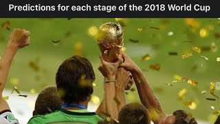 2018 FIFA World Cup Russia Predictions   Group & knockout Stages