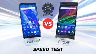 OnePlus 5T vs Razer Phone SPEED Test